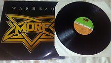 More - Warhead (Atlantic Records NWOBHM Vinyl LP - 1981) Rare - MISSPRESSED