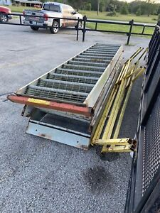 Mezzanine Steel Stairs With Rails For Building Steps Metal