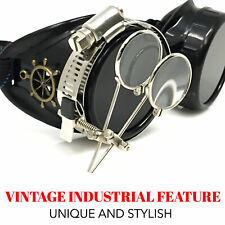 Steampunk goggles glasses vintage cyber goth punk motorcycle biker sunglasses