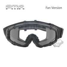 Tactical Airsoft Paintball Anti-Fog Ballistic Goggle Glasses with Cool Fan Black