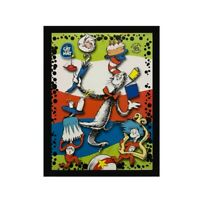 Dr. Seuss Cat In The Hat Thing 1 Thing 2  Wood Famed Picture Print
