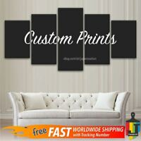 Custom 5 Panels Poster Abstract Wall Art Home Decor Painting Canvas Print