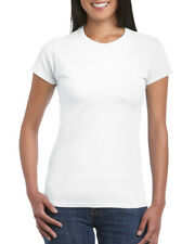 Sirena Squad 100% Ringspun Algodón Mujer Camiseta Cuello en Pico