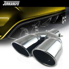 "US Titan Black Stainless Steel Dual Exhaust Tip 2.5"" Inlet Car Muffler Tail Pipe"