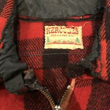 Vintage Hercules Wool Plaid Chin Strap Pull Over Work Shirt