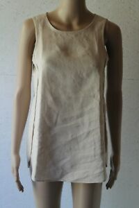 Country Road 100% linen cream sleeveless  blouse  top sz 4