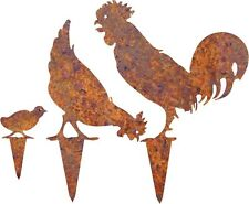 DXF CNC dxf for Plasma Router Clip Art Vector Rooster Hen Chick Garden Stakes