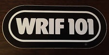 WRIF 101 Black/White 1980s - 101 WRIF sticker