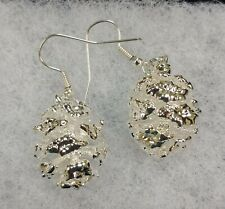 Nature's Jewelry Silverplated Natural Pinecone Earrings