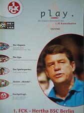 Programm 1996/97 1. FC Kaiserslautern - Hertha BSC