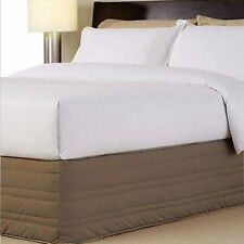 MUSHROOM 250 TC Thread Count QUEEN Cotton Blend Quilted Valance Poly-Cotton NEW