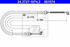 Seilzug, Feststellbremse für Bremsanlage ATE 24.3727-1074.2