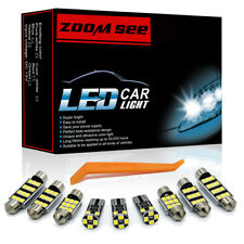21x LED plate bulbs Interior dome map trunk Light Kit For Renault Latitude 11-17