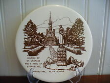 Vintage Church of St. Charles & Statue of Evangeline Grand Pre N.S. Tile Trivet