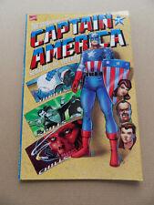Adventures Of Captain America 1 of 4 . Embossed Cover . Marvel 1991 . VF - minus