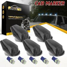 Partsam 5PCS Cab Marker 15442 Clear Light+T10 Ice Blue 5-5050-SMD LED Bulb+T10 Harness Compatible with Ford F150 F250 F350 F Series Super Duty 1980-1997