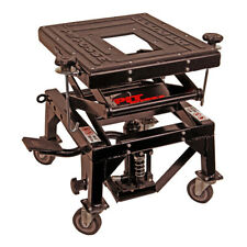 Pit Posse Motorcycle Atv Scissor Floor Jack Lift Stand with Caster Wheels