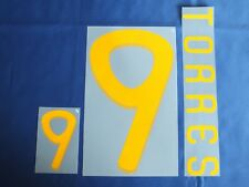 Lextra Sporting ID 2010 World Cup Spain Torres 9 Home Shirt Name Number Set