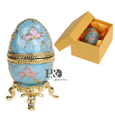 Beauty Egg-shaped Trinket Boxes Wedding Party Jewelry Cases Home Figurines Decor