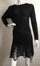 UNIF Destroyed Strick-Kleid used-look Pulloverkleid Gothic Punk
