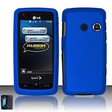 For LG Rumor Touch LN510 Banter Touch UN510 Hard Case Phone Cover Rubber Blue