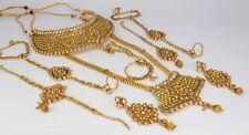 7Pc Indian wedding Dulhan bridal set fashion jewellery women Kundan Polki new