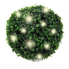 20 LEDs Solar Buchsbaum | Solarleuchte künstliche Buchsbaumkugel | Gartenleuchte