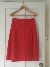 JIL SANDER BEAUTIFUL NEW RED SKIRT SIZE 34.