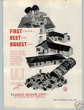 1959 PAPER AD Plastic Block City Construction Toys Toy
