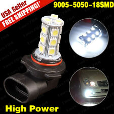 1x HID White HB3 9005 18SMD 5050 LED Car Fog Driving Daytime Running Lights 12V