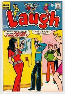 LAUGH COMICS #245 1971 NICE VERONICA HEADLIGHTS GGA COVER BRONZE AGE!