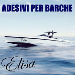 adesivo sticker nome barca personalizzato scritte numeri targa in vinile a0018