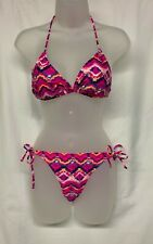 OP Ocean Pacific Multicolor Women's Bikini, Top Sz  L (11-13), Bottom Sz M (7-9)