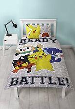 Housse de couette Pokémon Réversibles avec Design Pikachu et Taie D'oreiller ...
