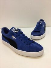 Men's Puma Suede Blue/ Black Classic Low Top Lace Up Sneakers Size 9.5 M
