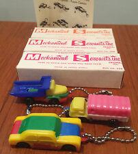 Vintage Mechanical Servants NOS Toy Keychain Car Truck Lorry Puzzle Lot