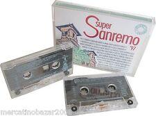 SUPER SANREMO '97 (1997) COFANETTO 2 MUSICASSETTE ORIGINALE NUOVO SIGILLATO