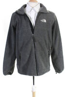 The North Face Mens Full Zip Fleece Jacket Gray Size Large
