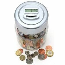 More details for coin-counting money jar digital savings bank lcd display counter counts coins