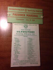 1961 Silverstone Paddock Marshall Armband British Sports Car Club