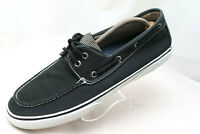 Sperry Top-Sider Men's Size 13M Black Canvas Lace Up Loafers Deck Boat Shoes