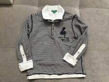 United Colors Of Benetton Boys Polo Shirt Size 3 White Long Sleeves