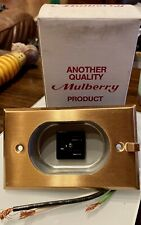 Vintage Mulberry Metal Products 40580 Brass Clock Outlet 15a-126v - New in Box