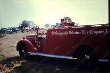 1971 fire company truck vintage 35mm slide Mk13