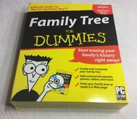 Family Tree For Dummies Software (PC CD-ROM)