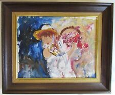 The Bride Surreal Abstract Oil Painting