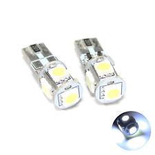 2x Bianco 5-SMD LED Nessun Errore Gratuito Canbus numero/Targa Lampadine Lampade