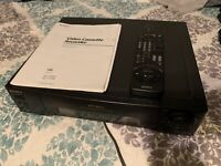 Sony VHS Player Recorder SLV-770HF 4 Head VCR plus with book and remote
