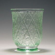 France Green Art Glassware Date-Lined Glass