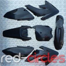 BLACK CRF70 STYLE PIT BIKE PLASTICS SET 125cc 140cc 160cc PITBIKE
